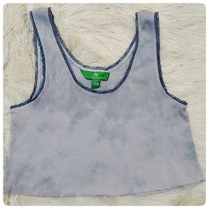 3/$15 Lavender Marble Tie Dye Crop Tank